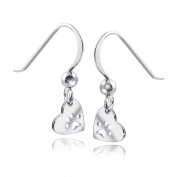 Materia # Paws Women's Children's Earrings Heart Animal Paw Print 6x19 mm, Includes Box 276