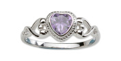 Precious Pieces Girl's Sterling Silver June CZ Birthstone Baby Ring