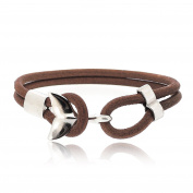 Sovats Men Brown Dolphin Leather Bracelet