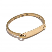 Giles & Brother Men's Hinge Cuff with I.D. Tag Closure