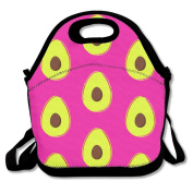 Avocado Fruit Cute Lunch Tote Bag Bags Awesome Lunch Handbag Lunchbox Box For School Work Outdoor
