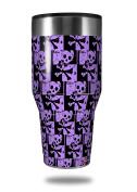 Skin Decal Wrap for Walmart Ozark Trail Tumblers 1180ml Skull Checker Purple (TUMBLER NOT INCLUDED) by WraptorSkinz