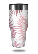 Skin Decal Wrap for Walmart Ozark Trail Tumblers 1180ml Palms 02 Pink (TUMBLER NOT INCLUDED) by WraptorSkinz