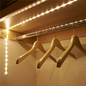 Decoration Lights,Battery Operated 1M LED Strip Light Wireless PIR Motion Sensor Wardrobe Cabinet