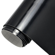 Black Glossy 30cm X 3m Roll Permanent Adhesive-Backed Vinyl for Craft Cutter, Punches and Vinyl Sign Cutters