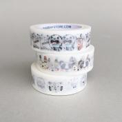 Cute Animal Pack of 3 Bundle / Japanese Washi Tape / Masking Tape / Decoration Tape / Lunarbay Washi Tape / www.lunarbaystore.com