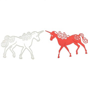 Visual Touch Metal Carbon Steel Horse Cutting Dies Stencil DIY Scrapbooking Template Decor Making Crafts Paper Card Arts