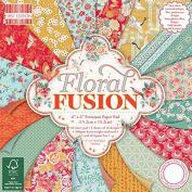 Premium Craft Cardstock First Edition 6x6 Designer Paper Pad - Floral Fusion