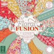 Premium Craft Cardstock First Edition 12x12 Designer Paper Pad - Floral Fusion