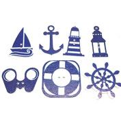 50 Pcs 2 Holes Scrapbooking Wooden Sea Wheels Anchors Button Mixed Wood Decorative DIY Gift
