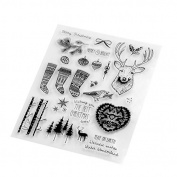 Christmas stockings/deer Transparent Clear Silicone Stamp/seal for DIY Scrapbooking/photo Album Decorative Clear Stamp Sheets