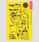Waffle Flower Crafts Clear Stamps 10cm x 15cm -Hey Girl