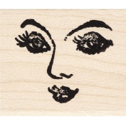 Sultry Face Rubber Stamp