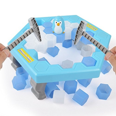 Youbedo Puzzle Table Games Ice-block Breaking Game Save Penguin Table Game knock ice block wall toys desktop paternity interactive game
