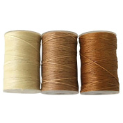 Wax thread Wax threads 60m Frequently used Natural colour 3pcs Wax Code String Yarn Light Natural Harvestmart