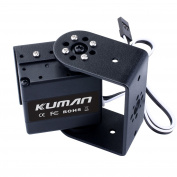 kuman 17KG High Torque Digital Robot Servo Motor with 270 Degree Rotating, U Bracket and Side cover servo Mount Case for RC Robot Helicopter Aeroplane Boat KY72-1