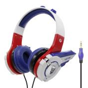 VCOM Kids Headphones Earphone for Toddler Tablet School Boys Girls DE803 Blue