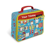Personalised Crocodile Creek Robots Insulated Lunch Box - 25cm