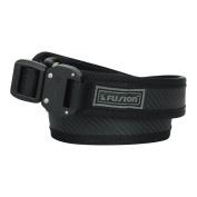 Fusion Tactical Military Police Trouser Belt Generation II Type E Carbon Black Large 100cm - 110cm /3.8cm Wide