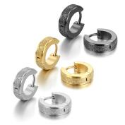 Cupimatch Stainless Steel Womens Small Huggie Hoop Earrings Men Ear Studs Gift Set
