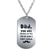 BESPMOSP Dad You Will Always Be The First Man I Ever Loved Pendant Necklace For Father