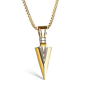 Stainless Steel Arrow Necklace by Vittore - Stainless Steel Chain Pendant For Men