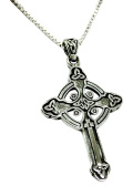 Sterling Silver Celtic Cross Necklace - Gift Boxed