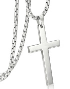 Jstyle Jewellery Stainless Steel Mens Cross Necklace Women Pendant Charms 61cm