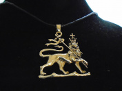 large fine BRONZE RASTA LION OF JUDAH , brass pendant necklace , solid hi quality sculpted & BRASS plated , authentic and unique , new with tag ,made in USA by Key West Gypsy 10 year guarantee