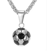 Football Man Ball with Steel Cross Necklace Valentine's day gift