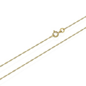 Nklaus 3724 Twisted 333 gold Singapore Chain, 42 cm long, 1.0 mm 0.73 gr Wide