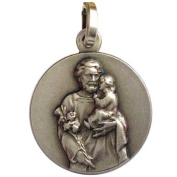 925 Sterling Silver Saint Joseph Medal - Patron Saint of Workers and Good Death
