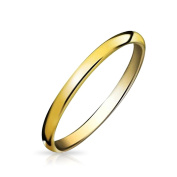 Bling Jewellery Gold Plated Tungsten Unisex Wedding Band Ring 2mm