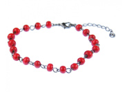 Red beads anklet anklet Miniblings Ethno Folklore Necklace wood beads red