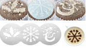 Steel Christmas Cake Stencils Coffee Muffin Decorations Cupcake Template Party