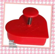 "Cute Cookie Cutter & Stamper ""home Made"" By Sass & Belle - For Perfect Cookies!"