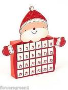 Wooden Advent Calendar Of A Jolly Santa. Hand Made