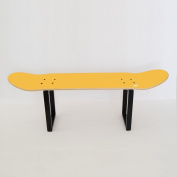 Perfect skateboarder gift idea to decorate room office - Skateboard Furniture stool yellow