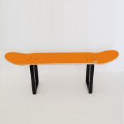Skateboard footrest for skate themed room - Special for children from 7 to 16 years old - Skateboard Furniture orange