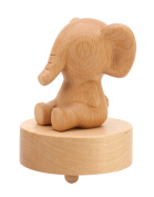 Elephant Classical Wooden Mechanism Musical Box Gift for Christmas