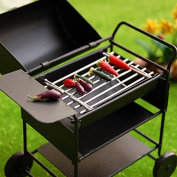 Miniature Doll House Barbecue Grill Mini Furniture Toys BBQ Oven Black
