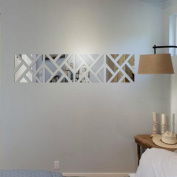 Sticker Mirror, ZTY66 Removable 32PCS 3D Mirror Acrylic Art Vinyl Mural Sticker for DIY Home Decor