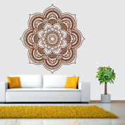 Sticker Floral, ZTY66 Indian Mandala Flower PVC Mural Sticker for DIY Home Decor