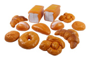 Liberty Imports Life Sized 12 Piece Bread Set Pretend Play Toy Food Playset for Kids
