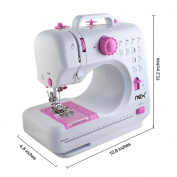 NEX Sewing Machine for Kids Present Household Sewing Machine with 12 Built-In Stitch Portable Crafting Mending Machine