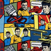 2 Yards Pre-Cut - Star Trek Character Blocks Fleece Fabric (Great for Quilting, Sewing, Craft Projects, Throw Pillows & More) PreCut 2 Yards X 150cm