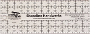 Creative Grids Shoreline Handwerks Custom Quilting Ruler 6.4cm x 17cm