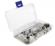 47X Boat Cover Fitting Snap Fastener 15mm Stainless Canvas To Screw Press Kit