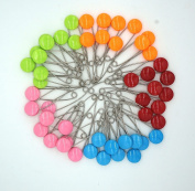 GTONEE Safety Pins Locking Baby Cloth Nappy Nappy Pins Stainless steel, Size L, 5.3cm Cute Candy Colour 50 PCS