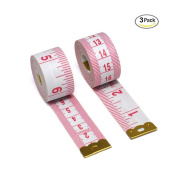 Aigemi Pack of 3, 200cm Tape Measure for Sewing Tailor Cloth Ruler